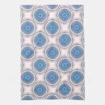 Círculos azules toalla de mano