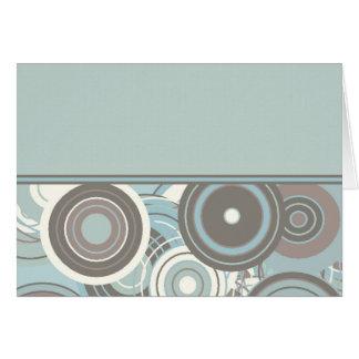 Círculos azules y grises tarjeta de felicitación