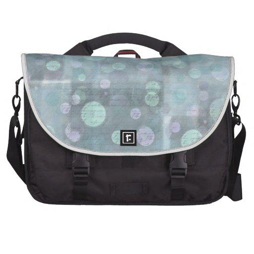 Círculos azules y modelo del bloque cuadrado bolsas de portatil