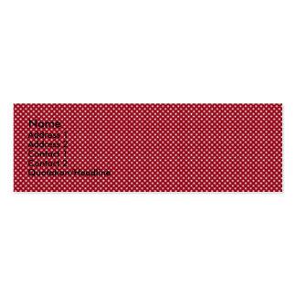 Círculos blancos de lujo en fondo rojo tarjetas de visita