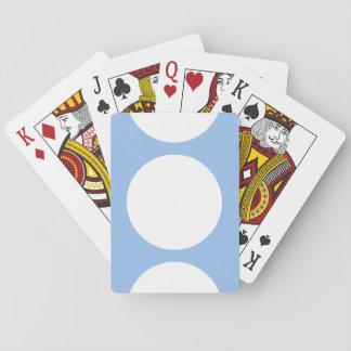 Círculos blancos en azul claro barajas de cartas