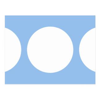 Círculos blancos en azul claro postales