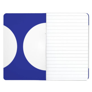 Círculos blancos en azul cuadernos grapados