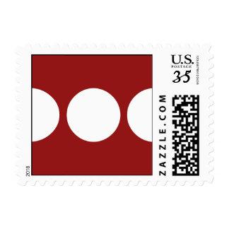 Círculos blancos en el rojo - pequeño sello