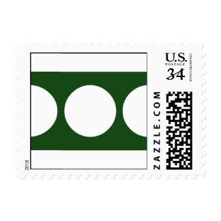 Círculos blancos en el verde - pequeño sellos postales