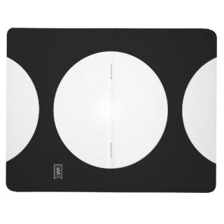 Círculos blancos en negro cuadernos