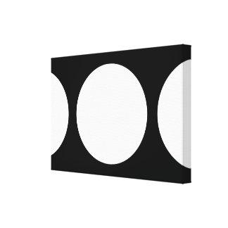 Círculos blancos en negro impresión en lienzo