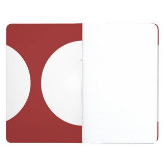 Círculos blancos en rojo cuadernos grapados