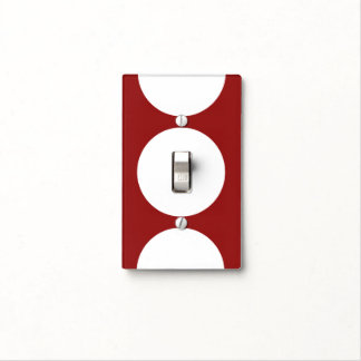 Círculos blancos en rojo cubiertas para interruptor