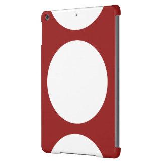 Círculos blancos en rojo funda para iPad air