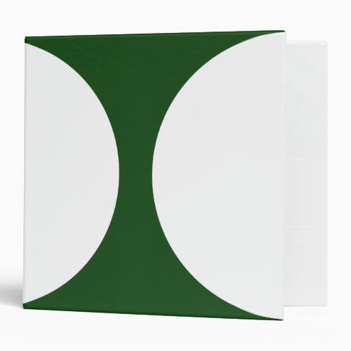 Círculos blancos en verde