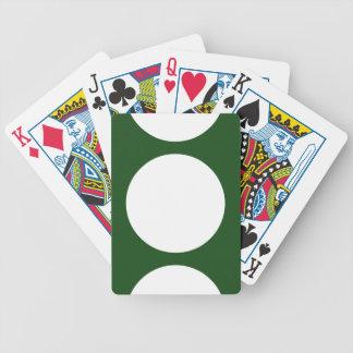 Círculos blancos en verde baraja cartas de poker