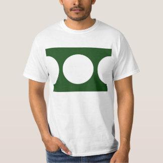 Círculos blancos en verde playera