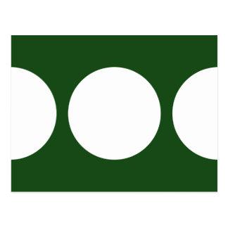 Círculos blancos en verde postal