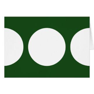 Círculos blancos en verde tarjeta de felicitación