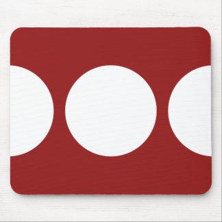 Círculos blancos intrépidos en Mousepad rojo Tapetes De Ratones