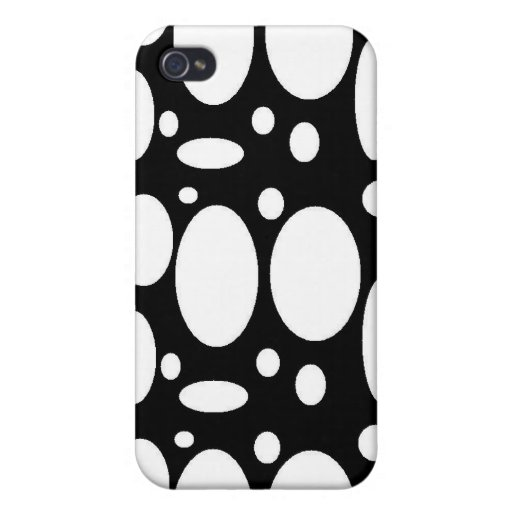 Círculos blancos iPhone 4/4S funda