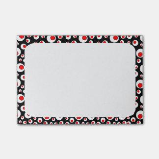 Círculos blancos rojos frescos geométricos abstrac nota post-it®