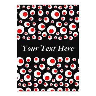 Círculos blancos rojos frescos geométricos invitaciones magnéticas