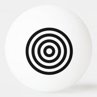 Círculos blancos y negros de la diversión del símb pelota de ping pong