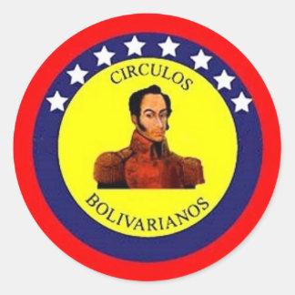 Circulos Bolivarianos Classic Round Sticker