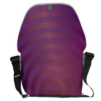 Círculos brillantes púrpuras bolsas de mensajeria