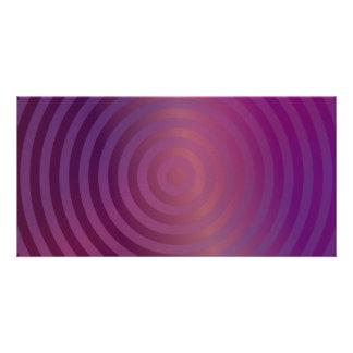 Círculos brillantes púrpuras tarjetas personales