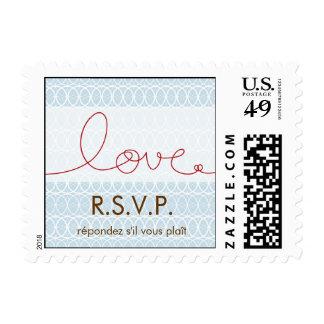 Círculos + Cielo RSVP del amor que casa sellos del