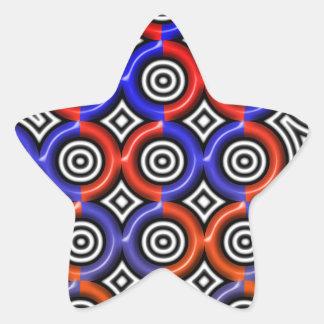 Círculos, círculos por todas partes pegatina en forma de estrella