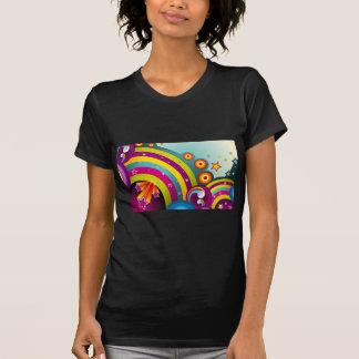 Círculos coloreados del extracto y estrella y arco camisetas