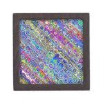 Círculos coloridos de la hoja caja de joyas de calidad