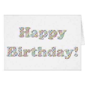 Círculos coloridos del feliz cumpleaños tarjeta