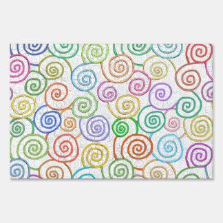 Círculos coloridos del modelo de los espirales que cartel