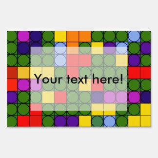 Círculos coloridos en cuadrados carteles