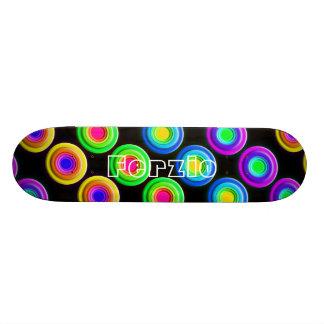 Círculos coloridos enrrollados 3D Tablas De Skate