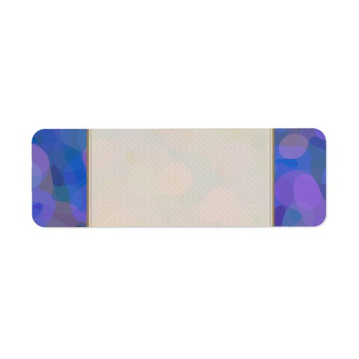 Círculos coloridos etiquetas de remite