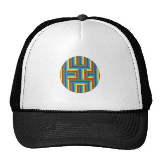 Círculos coloridos gorras