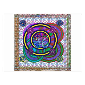 Círculos coloridos redondos del aro de Hula Postales