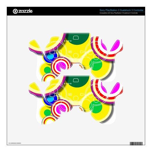 círculos coloridos skins para mando PS3