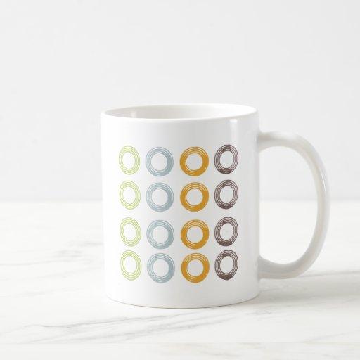 Círculos coloridos tazas