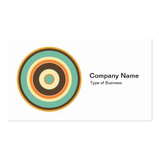 Círculos concéntricos coloridos 02 tarjeta de negocio