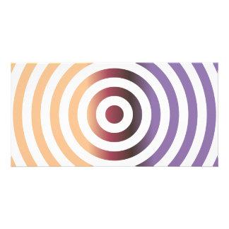 Círculos concéntricos coloridos tarjetas fotográficas personalizadas