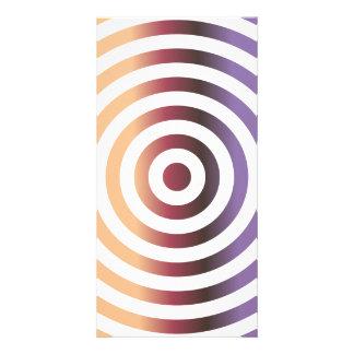 Círculos concéntricos coloridos tarjeta fotográfica