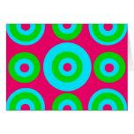 Círculos concéntricos de la verde lima del trullo tarjeta pequeña
