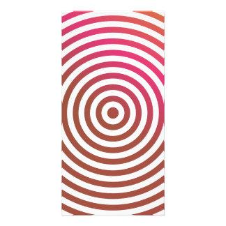 Círculos concéntricos del color tarjetas con fotos personalizadas