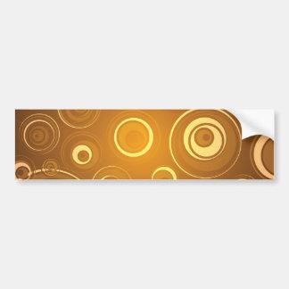 Círculos concéntricos del vector anaranjados etiqueta de parachoque