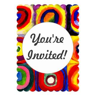 """Círculos concéntricos Farbstudie Kandinsky de los Invitación 5"""" X 7"""""""