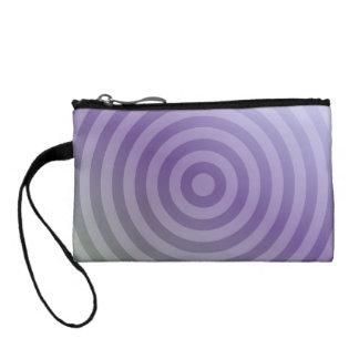 Círculos concéntricos púrpuras metálicos