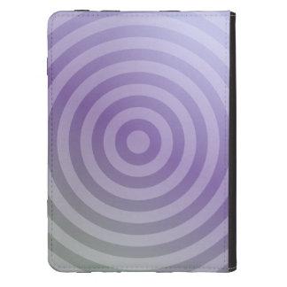 Círculos concéntricos púrpuras metálicos funda de kindle touch