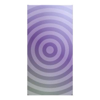 Círculos concéntricos púrpuras metálicos tarjeta personal